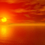 Rode zonsondergang Stock Fotografie