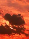 Rode zonsonderganghemel Stock Fotografie