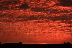 Rode zonsopgang Royalty-vrije Stock Afbeeldingen