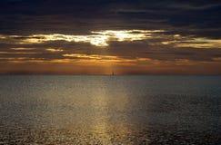 Rode zonsopgang in Italië Royalty-vrije Stock Afbeeldingen