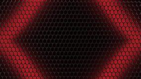 Rode Zwarte 3D Illustratie Mesh Grid Background royalty-vrije illustratie