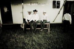 Rodeio e cowboys fotografia de stock royalty free