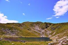 Rodella lake, sud tyrol italy. Rodella lake, Velturno, 2196 meters sud tyrol italy royalty free stock photos