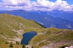 Rodella lake, sud tyrol italy. Rodella lake, Velturno, 2196 meters sud tyrol italy royalty free stock images