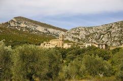 Rodellar by, Spanien Arkivbild