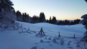 Rodeln. Schnee Sonnenuntergang kalt Stock Photography