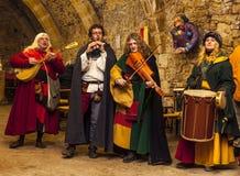 Banda medieval Fotos de archivo