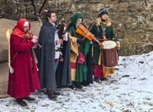 Banda medieval Foto de archivo libre de regalías