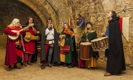 Banda medievale Fotografia Stock