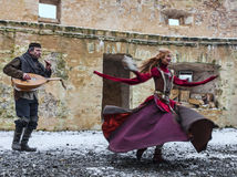 Mittelalterlicher Entertainer Lizenzfreies Stockfoto