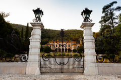 Rodengo Saiano (Brescia, Italie) : Villa Fenaroli Photos stock
