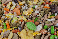 Rodent food mix of grains and seeds Royalty Free Stock Photography