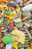 Rodent food mix of grains and seeds Stock Photography