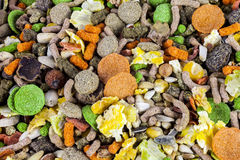 Rodent food mix of grains and seeds stock images