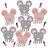 Rodent mob. Illustration of an angry rodent mob Stock Photos