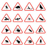 Rodent and pest warning signs 2. Rodent and pest with warning signs Stock Photos