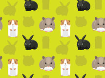 Rodent Pet Seamless Wallpaper 4 Royalty Free Stock Photography