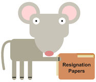 Rodent's resignation Royalty Free Stock Photography