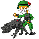 Rodent-Warior. Daring rodent heavy with a very large gun royalty free illustration