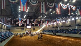 Rodeo arena obrazy stock