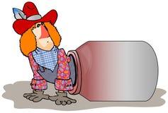 Rodeo błazen Zdjęcia Stock