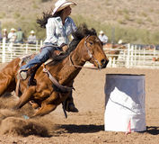 Rodeo Barrel Racing. Rodeos are very popular in the western states of the United States Royalty Free Stock Photos