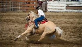 Rodeo Barrel Racing. Long Beach Peninsula royalty free stock photos