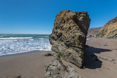Rodeo Beach California rocks waves and sand Stock Photography