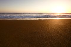 Rodeo Beach in San Francisco. Rodeo Beach at Sunset in San Francisco Royalty Free Stock Photography