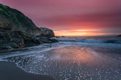 Rodeo Beach Sunset royalty free stock photo