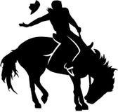 Rodeo berijdend silhouet royalty-vrije illustratie