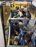 Rodeo bull rider cowboys Stock Image