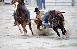 Rodeo che lotta Fotografie Stock