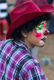 Rodeo clown. At a country rodeo in Mexico Royalty Free Stock Photos