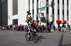 Rodeo Clown in National Western Stock Show Parade Stock Photos