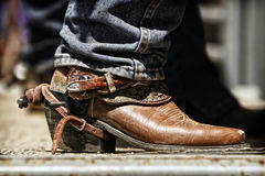 Rodeo Cowboy Boot and Spur royalty free stock photos