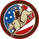 Rodeo cowboy bull riding Stock Photos