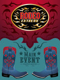 Rodeo - Cowboy event poster Stock Photos