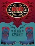 Rodeo - Cowboy event poster Stock Photos