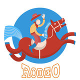 Rodeo.Cowboy on horse Royalty Free Stock Image