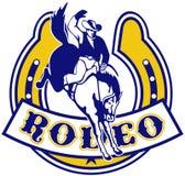 Rodeo Cowboy horse horseshoe Royalty Free Stock Image