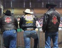 Rodeo Cowboys. Watching calf roping Royalty Free Stock Images
