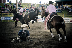 Rodeo and cowboys. Canadian pro rodeo in Airdrie Alberta Canada Stock Photo