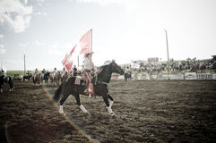 Rodeo and cowboys. Canadian pro rodeo in Airdrie Alberta Canada Stock Photos