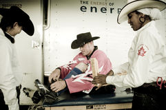 Rodeo and cowboys. Canadian pro rodeo in Airdrie Alberta Canada Royalty Free Stock Photography