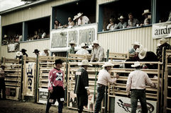 Rodeo and cowboys. Canadian pro rodeo in Airdrie Alberta Canada Stock Images