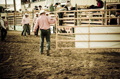 Rodeo and cowboys. Canadian pro rodeo in Airdrie Alberta Canada Royalty Free Stock Photo