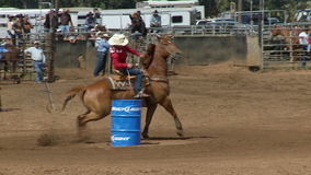 Rodeo Cowboys - Cowgirls Barrel Racing in Slow Motion - Clip 5 of 5