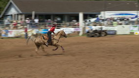 Rodeo Cowboys - Cowgirls Barrel Racing in Slow Motion - Clip 2 of 5