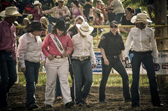 Rodeo and cowboys sports medicine. Canadian pro rodeo sports medicine in Airdrie Alberta Canada Stock Photos